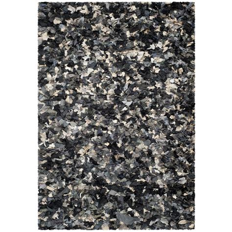 gray shag rug safavieh shag black gray area rug reviews wayfair