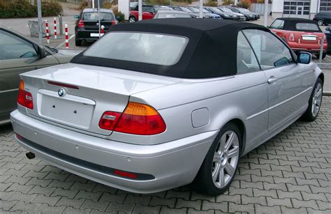 a e file bmw e46 cabrio rear 20071104 jpg wikimedia commons