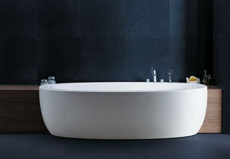 Acrylic Freestanding Bathtub Ilbagnoalessi One Semi Recessed Bathtub By Laufen