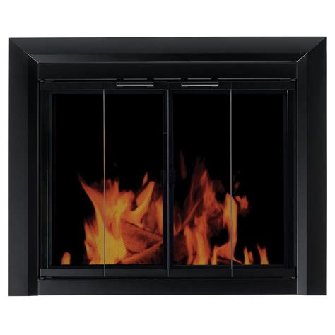 Pleasant Hearth Glass Fireplace Doors Pleasant Hearth Clairmont Large Glass Fireplace Doors Cm 3012 The Home Depot