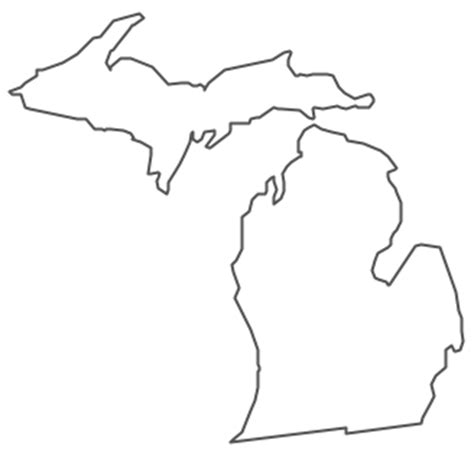 geo map usa michigan