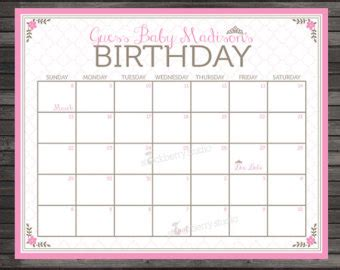 pin printable baby pool calendar on pinterest