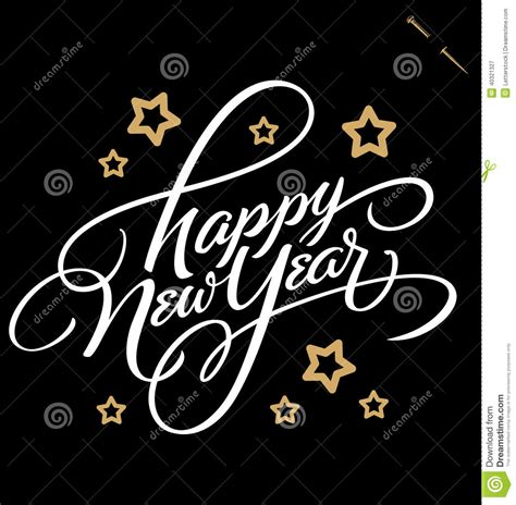 new year calligraphy vector free happy new year lettering vector stock vector