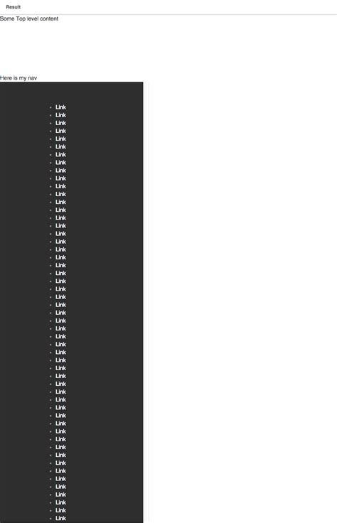 css div scrollbar style css scrollable nav that is 100 div height stack overflow