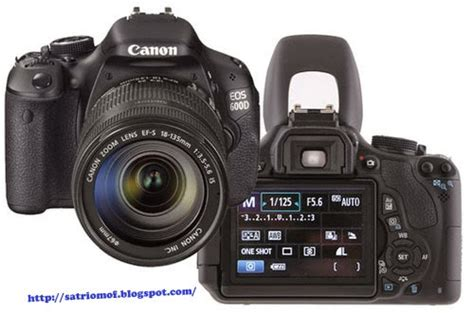 Kamera Canon 600d satrio moffers harga kamera canon eos 600d dan