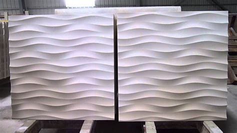designer s panels 3d feature stone wave wall panel design youtube
