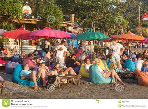 bali beach bar editorial image image  indonesia