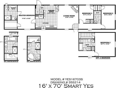 18 x 80 mobile home floor plans 1995 fleetwood manufactured home floor plans
