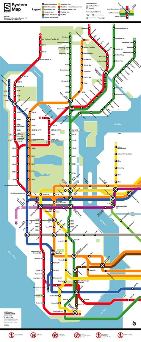 metro ny map map new york subway map in the style of