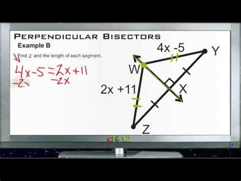 perpendicular bisectors ( video ) | geometry | ck 12