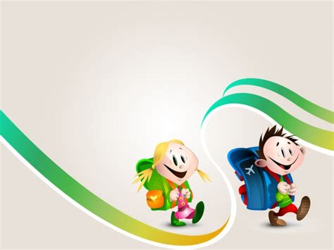 theme ppt cartoon all school children powerpoint themes here are free to