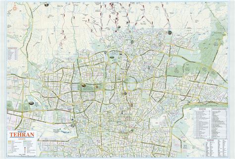thran map iran travel information forum view topic map of tehran