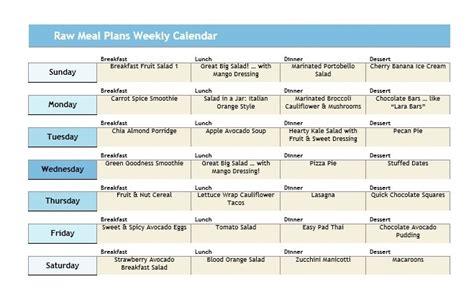 Diet Plan Calendar Plus Belle La Vie Pblv 4 Day Rotation Diet Template