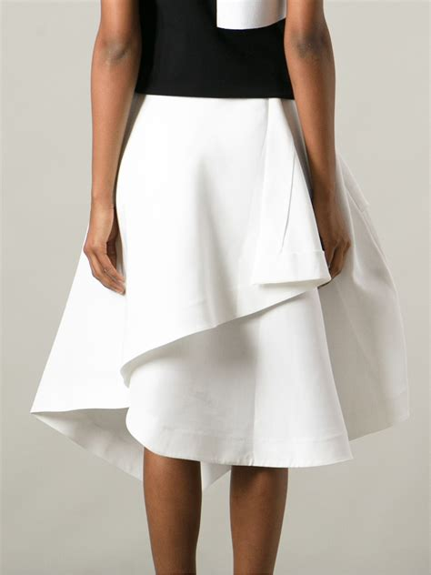 How To Make Origami Skirt - j w origami skirt in white lyst