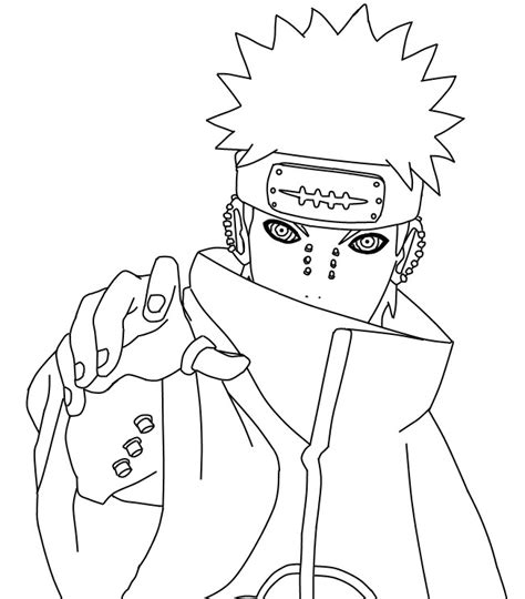 naruto coloring pages akatsuki naruto akatsuki coloring pages sketch coloring page