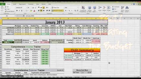 How To Make A Budget In Excel Part 1 Youtube How To Make A Budget Plan Template