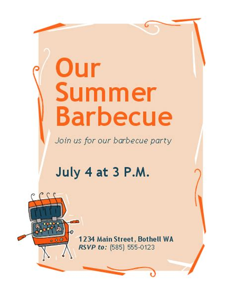 invitation flyer templates free bbq invitation flyer templates officecom