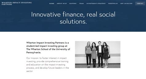 Wharton Mba Social Impact Courses by Wharton Impact Investing Partners Launches Rebrand Fall