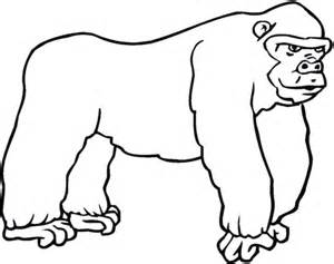 Gorilla 7 Coloring Page Supercoloring Com Gorilla Coloring Pages