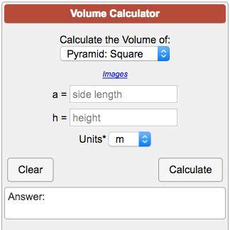 calculator volume volume calculator