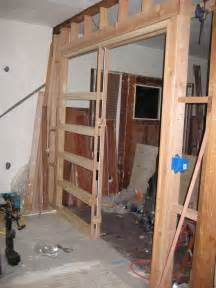 pocket door frame installed jcdeck2 flickr