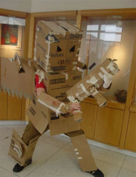 20 Epic Cardboard Robot Costumes   SMOSH