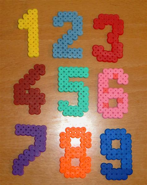 perler bead numbers my own set of hama numbers for my 2y