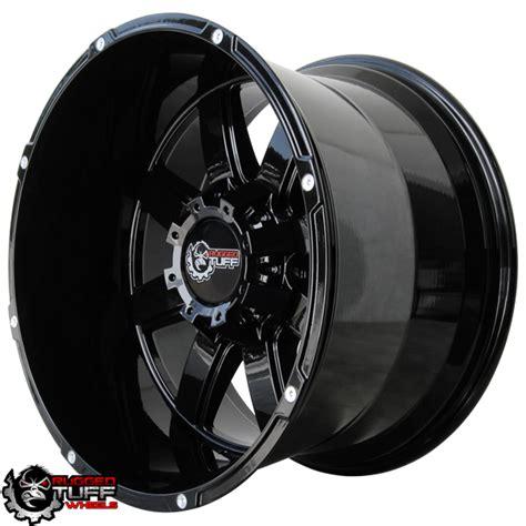 Rugged Wheels by New Rugged Tuff Rt888 20x12 Wheels Set Gloss Black 5x150