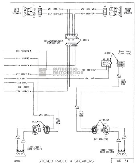 2001 dodge dakota radio wiring diagram