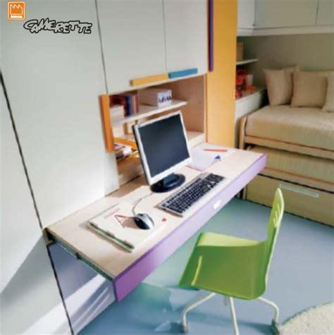 scrivania con piano estraibile camerette a ponte ad angolo con due letti