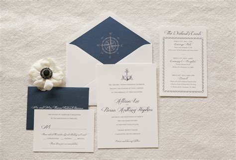 Wedding Invitations Nautical by Nautical Wedding Invitation Anchor Invitation Compass