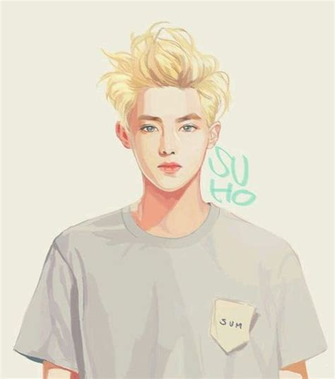 exo born hater fan art suho exo fanart for stardium drawing graphic