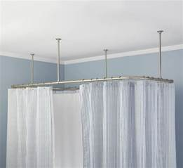 shower curtain ceiling track rooms
