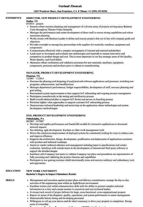 Product Development Resume