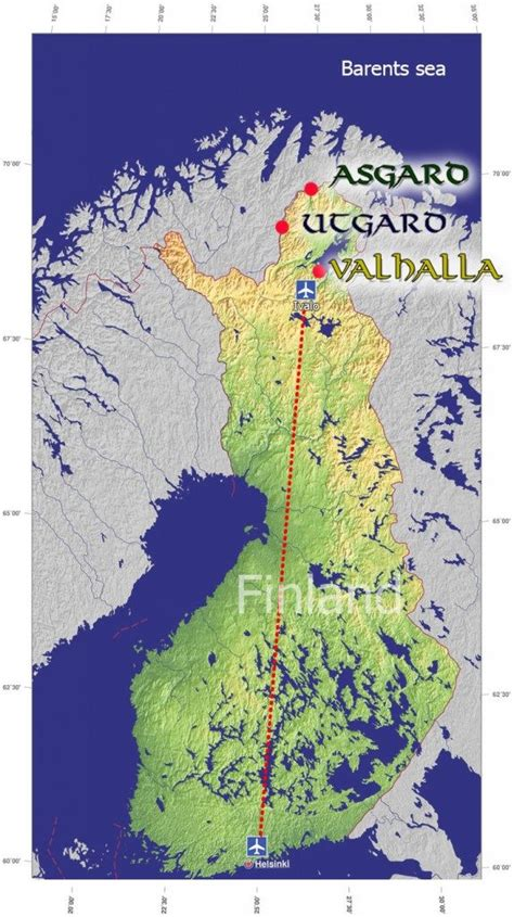 northern lights location map northern lights holiday in ivalo lapland