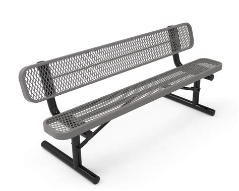 thermoplastic benches rhino 8 foot rectangular thermoplastic metal bench with