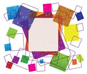 Vector Colorful Square Frame Free Design 123freevectors