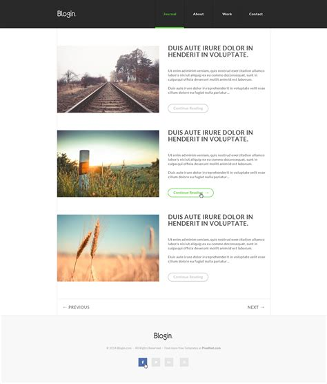 blogin free html5 blog template