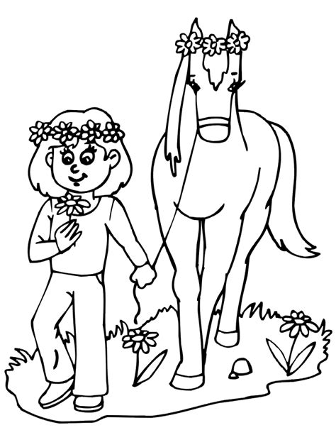 pin girl horses coloring pictures on pinterest