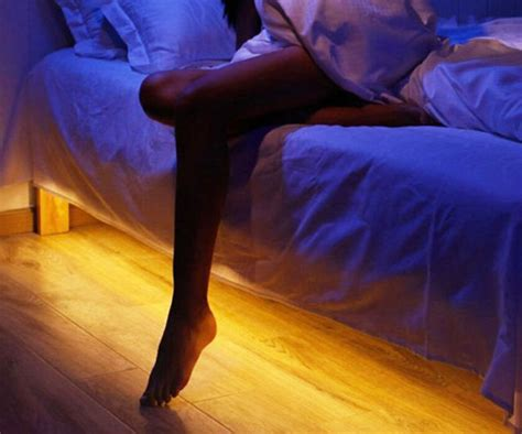 motion sensor bed light bed light a motion activated led light for your nighttime