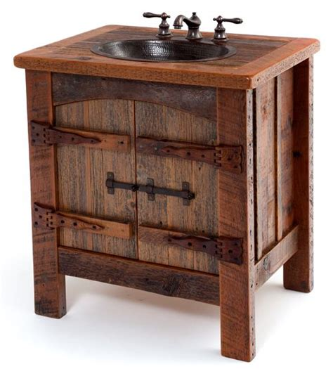 hammered copper bathroom sinks bathroom furniture rustic vanities barnwood vanity