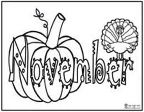 November Themed Coloring Pages | months wordsearch colouring pages