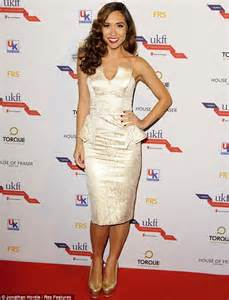 Carpet Myleene Klass At Mayfair Personality Of The Year Event by Myleene Klass Struggles With The Stairs In Skintight