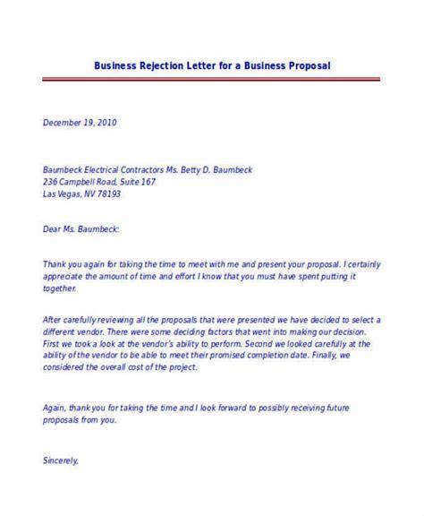 Business Letter Sle Reject business letter rejection 28 images commercial credit