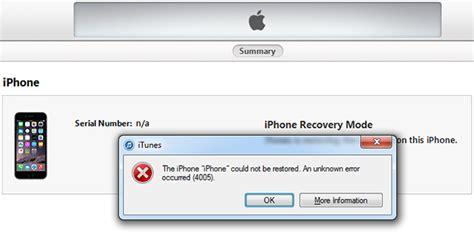 4 easy ways to fix iphone error 4005