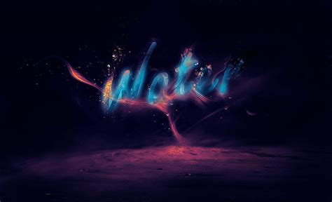 photoshop cs3 water effect tutorial create a glowing liquid text with water splash effect in
