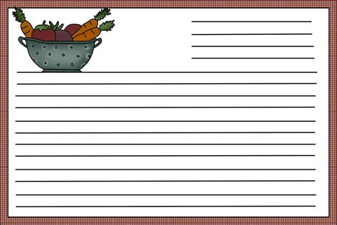 Free Templates For Recipe Cards That You Can Fill In by Recipe Card Template Beepmunk