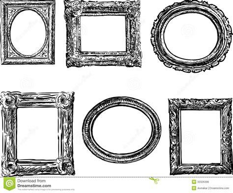 how to draw doodle frames kaders in barokke stijl royalty vrije stock foto s