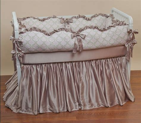 Silk Crib Bedding Set 17 Best Images About Silk Crib Baby Bedding On Pink Silk Lace And Bedding