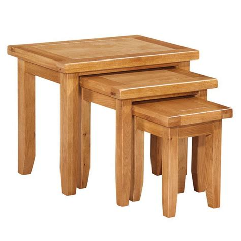 Cotswold Oak Nest Of Tables Buy At Qd Stores